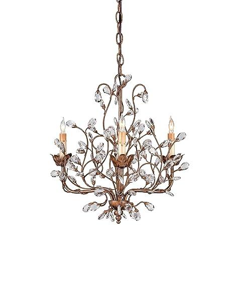 Amazon.com: Currey and Company 9883 Bud lámpara de araña, de ...
