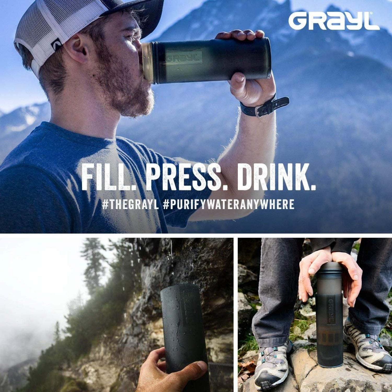 GRAYL Purificador de Agua Compacto Ultraligero