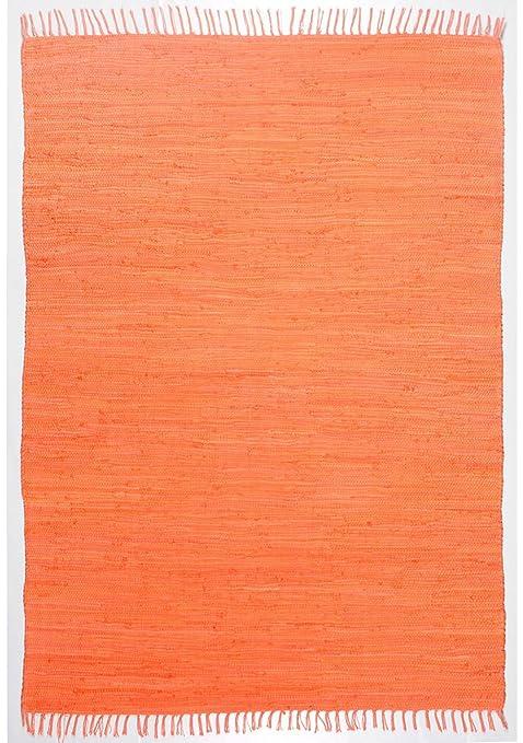 Theko Happy Cotton Alfombra, 100% algodón, Terra, 120 x 180 cm ...