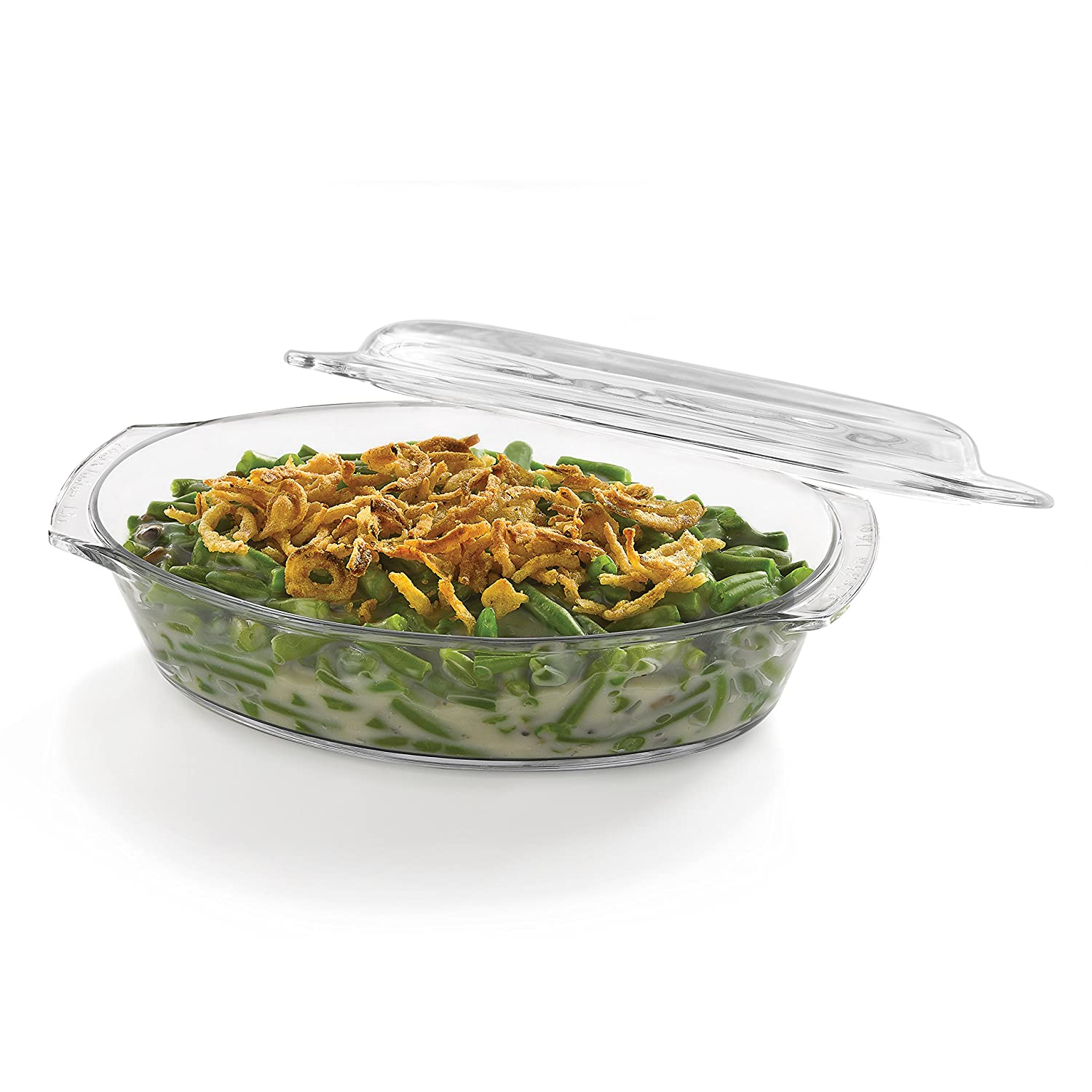 Libbey Baker's Basics Glass Oval Casserole with Cover 56281