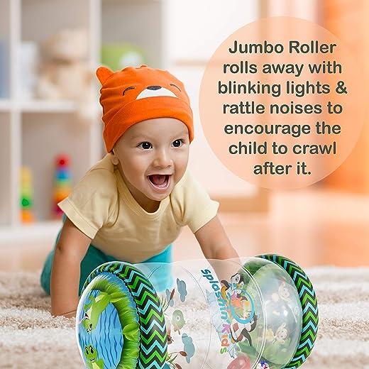 Splashin'kids Animal Friends Jumbo roller baby toys tummy activity center