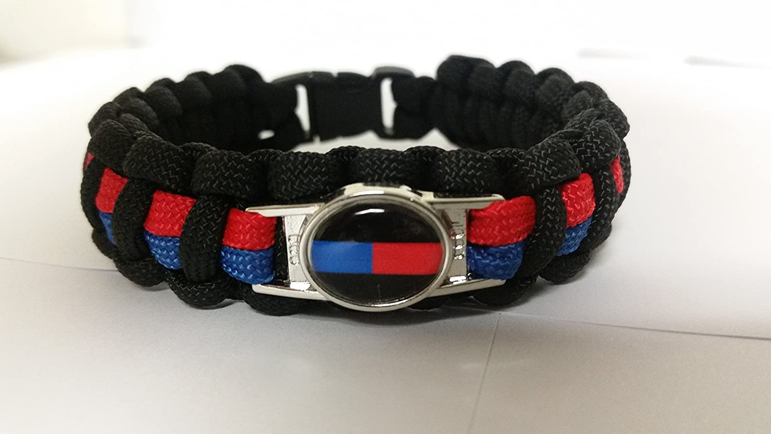bangle blue lives paracord line armband home in thin hooks america usa buckles from flag support survival police item us bracelet red