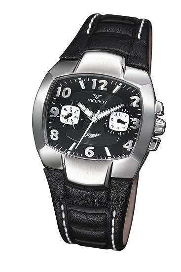 Viceroy Fernando Alonso - Reloj de Mujer de Cuarzo, Correa de Piel Color Negro: Amazon.es: Relojes