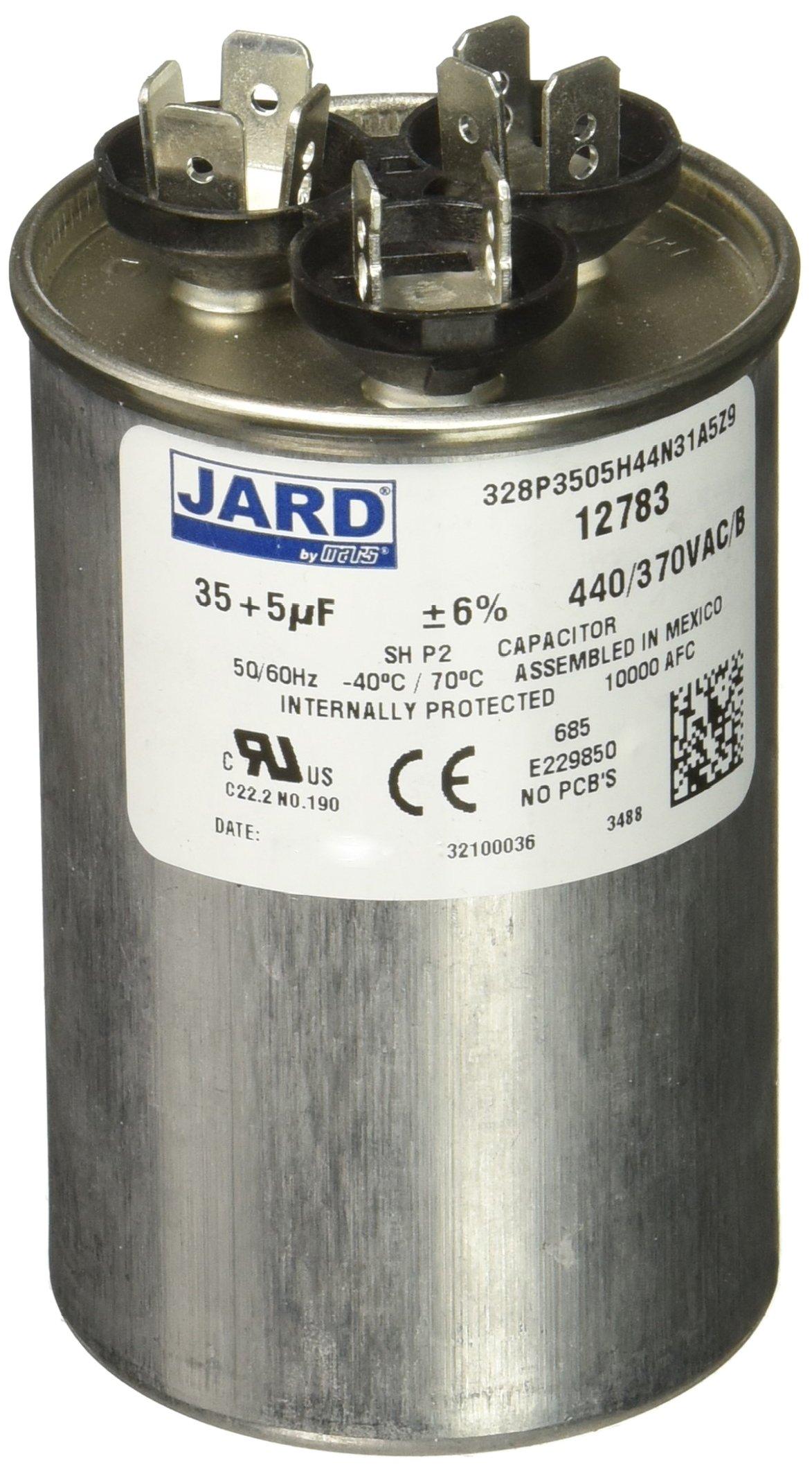 USA Dual Run Round 35//5 uf MFD 370 Volt 440 VAC Replaces Genteq Z97F9848 97F9848