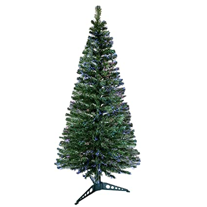 ebb36a7e73796 6ft 180cm Beautiful Green Fibre Optic Artificial Indoor Christmas Xmas Tree  New  Amazon.co.uk  Kitchen   Home