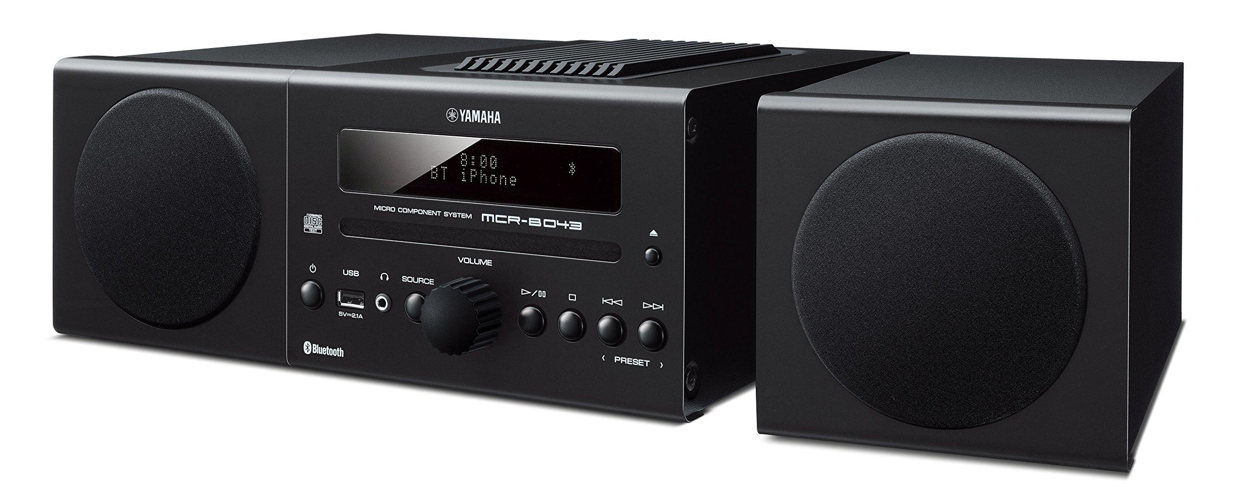 Yamaha MCR-B043BL Desktop Audio System, Black by Yamaha Audio