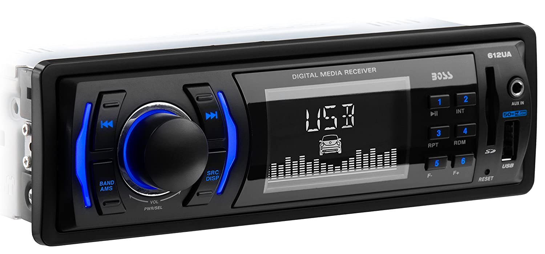 amazon com car stereo boss audio 612ua single din, mp3 usb sd am Boss 612UA Wiring Harness Colors amazon com car stereo boss audio 612ua single din, mp3 usb sd am fm (no cd dvd player) car electronics