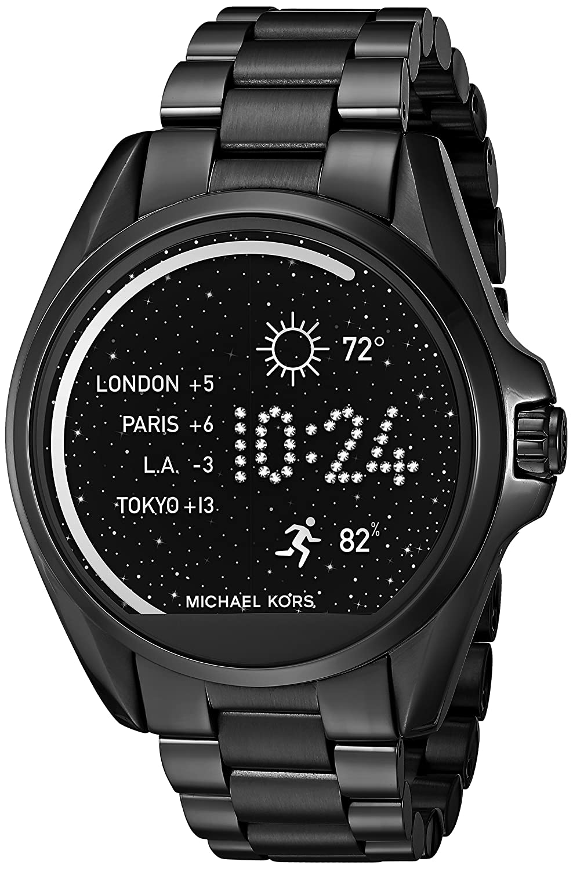 michael kors access touch screen black bradshaw smartwatch mkt5005 new ebay. Black Bedroom Furniture Sets. Home Design Ideas