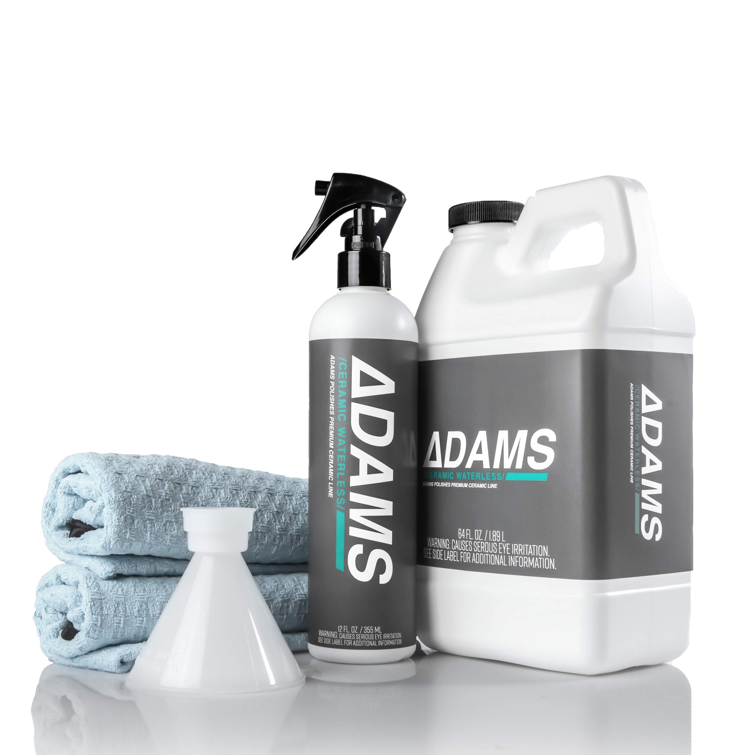 Adam's Ceramic Waterless Wash - Clean & Boost The Ceramic Protection of Boat, RV, Truck & Motorcycle - Hydrophobic Top Coat Cleaner & Sealant (Refill Complete Kit)