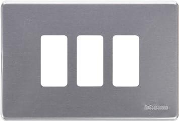 Placa para 2 mecanismo cuadrado magic resina Bticino magic