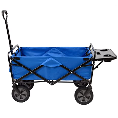 Amazon.com   Mac Sports Collapsible Folding Outdoor Utility Wagon with Side  Table - Blue   Garden   Outdoor ebab8706d5