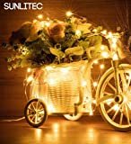 Solar String Lights, Sunlitec 100 LEDs Starry