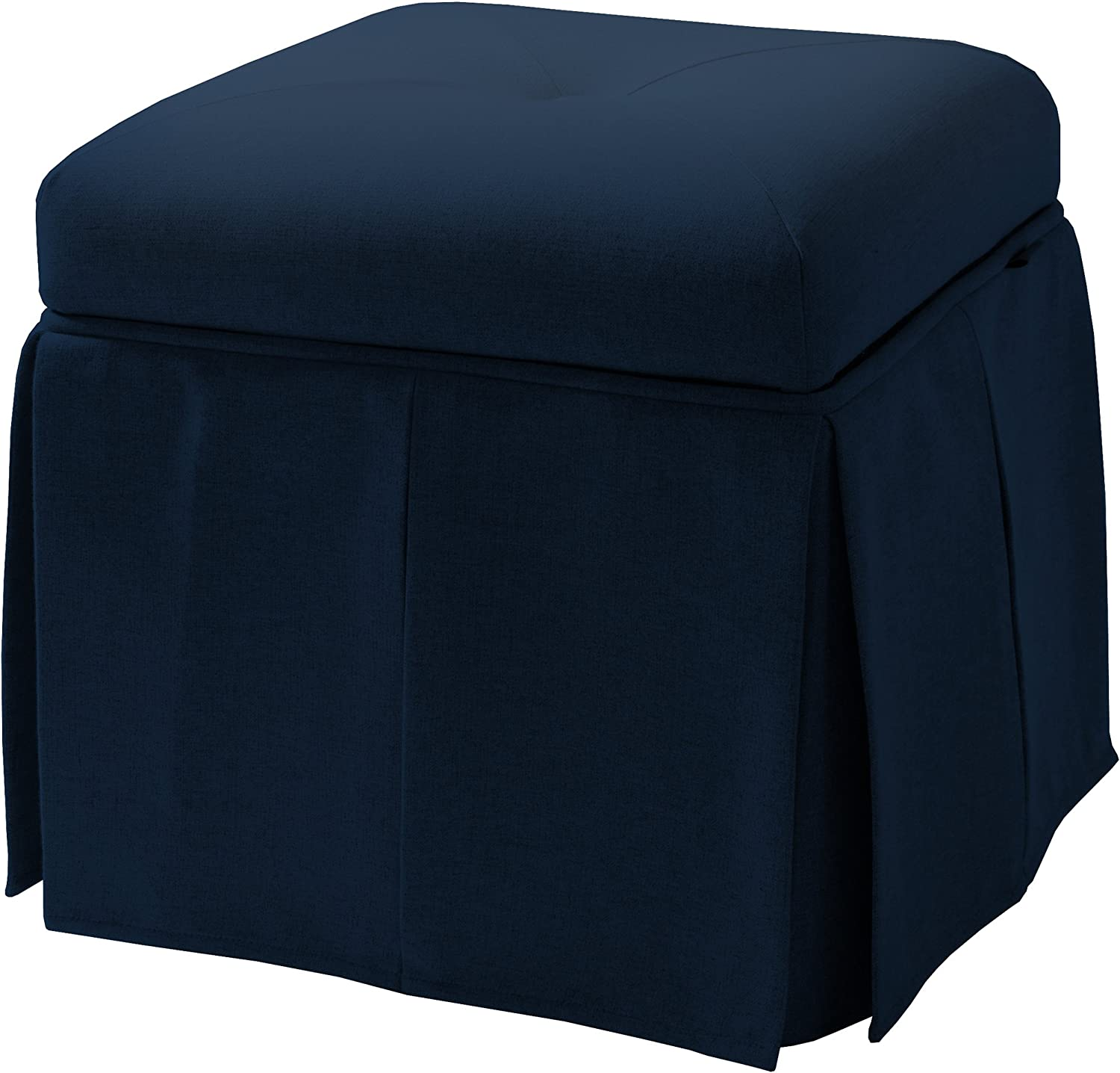 Jennifer Taylor Home Stacy Storage Vanity Stool, Midnight Blue