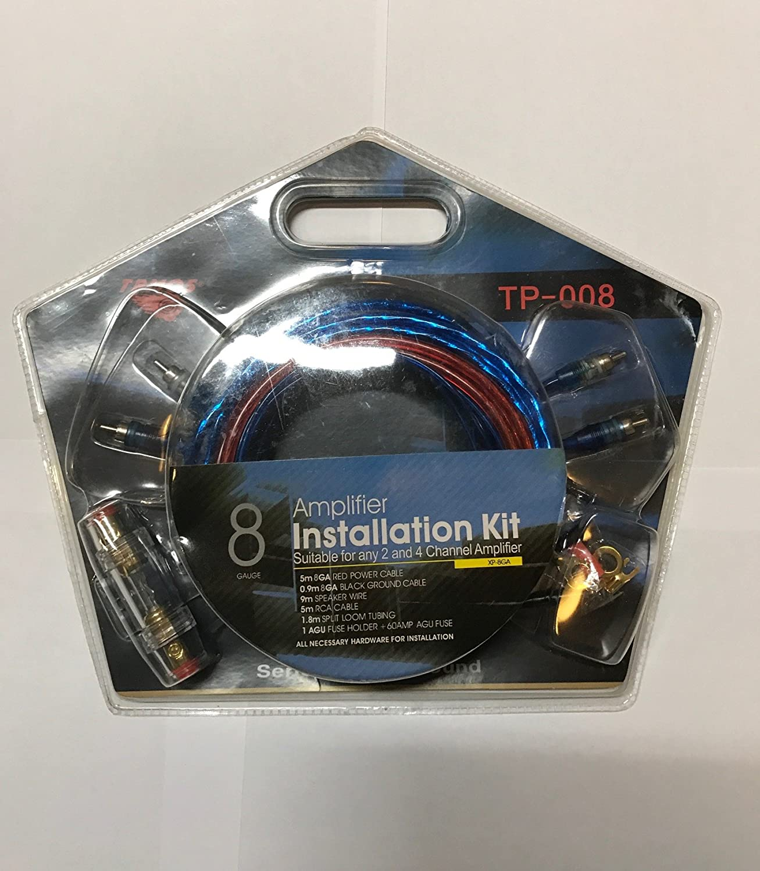 8 gauge kit cablaggio amplificatore a 2 canali Amp 60 amp fusibile TPMOS