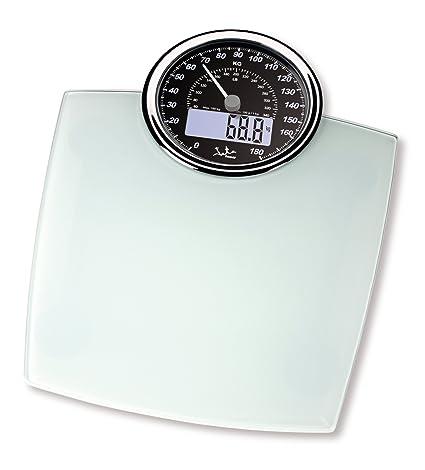 Jata Hogar 519BL - Báscula doble display, 180 kg, color blanco
