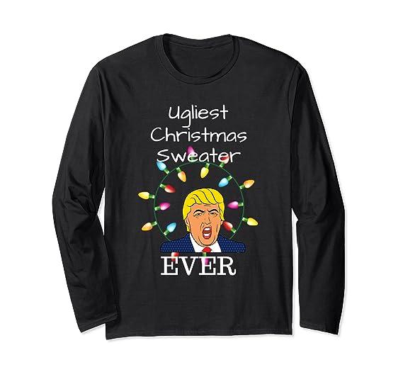 Amazon.com Ugliest Christmas Sweater Ever for Anti Trump