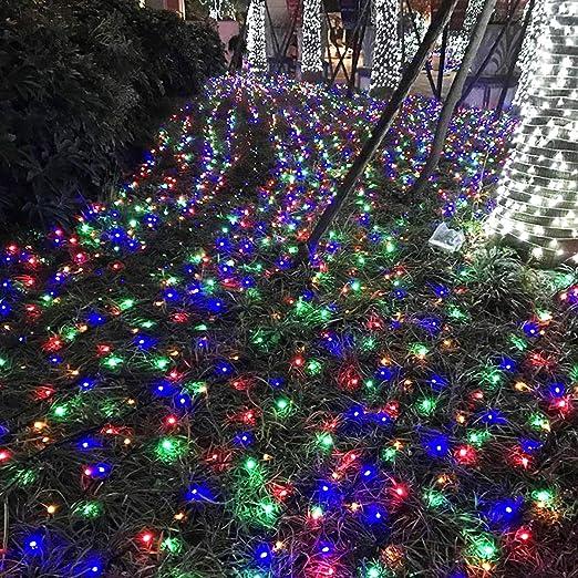 30m 200 LED Lichterkette Außen lichtevorhang Weihnachtsbeleuchtung Party weiß