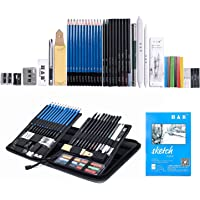48-Piece H & B Sketching Pencils Set with Complete Artist Kit