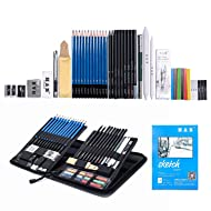 H & B Sketching Pencils Set Drawing and Sketch Kit (48-piece)