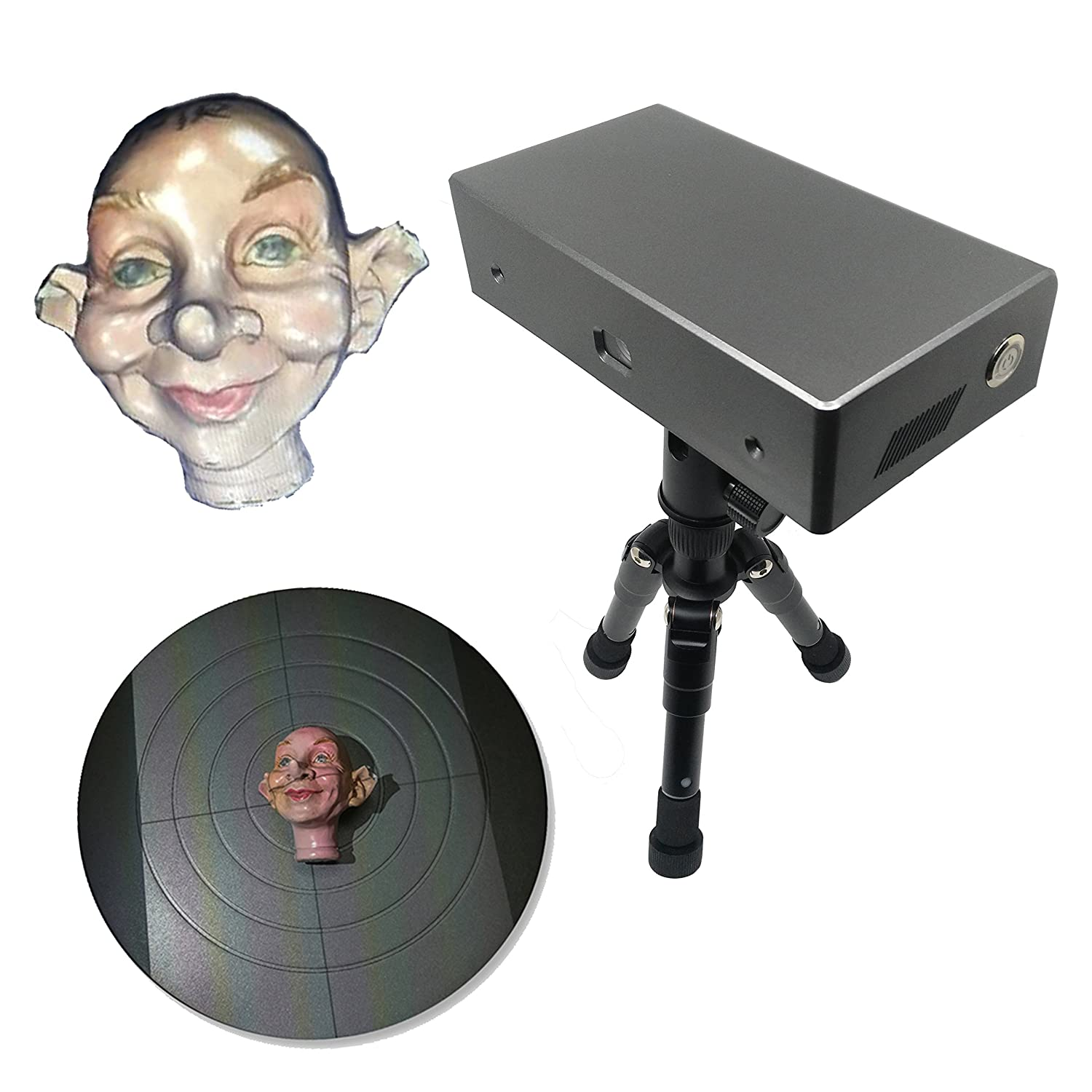 Desktop 3D Scanner Full Color 0.08mm Accuracy 30FPS Thunk3D Cooper C20 Beijing Xunheng Technology Co.Ltd