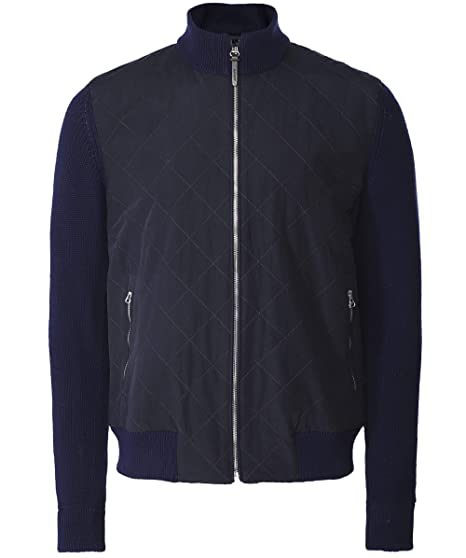 official sale skilful manufacture clearance Hackett Men's Water-Repellent Quilted Bomber Jacket Navy ...