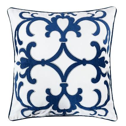 Amazon Homey Cozy Applique Navy Velvet Throw Pillow CoverOcean Stunning Nautical Decorative Pillow Covers