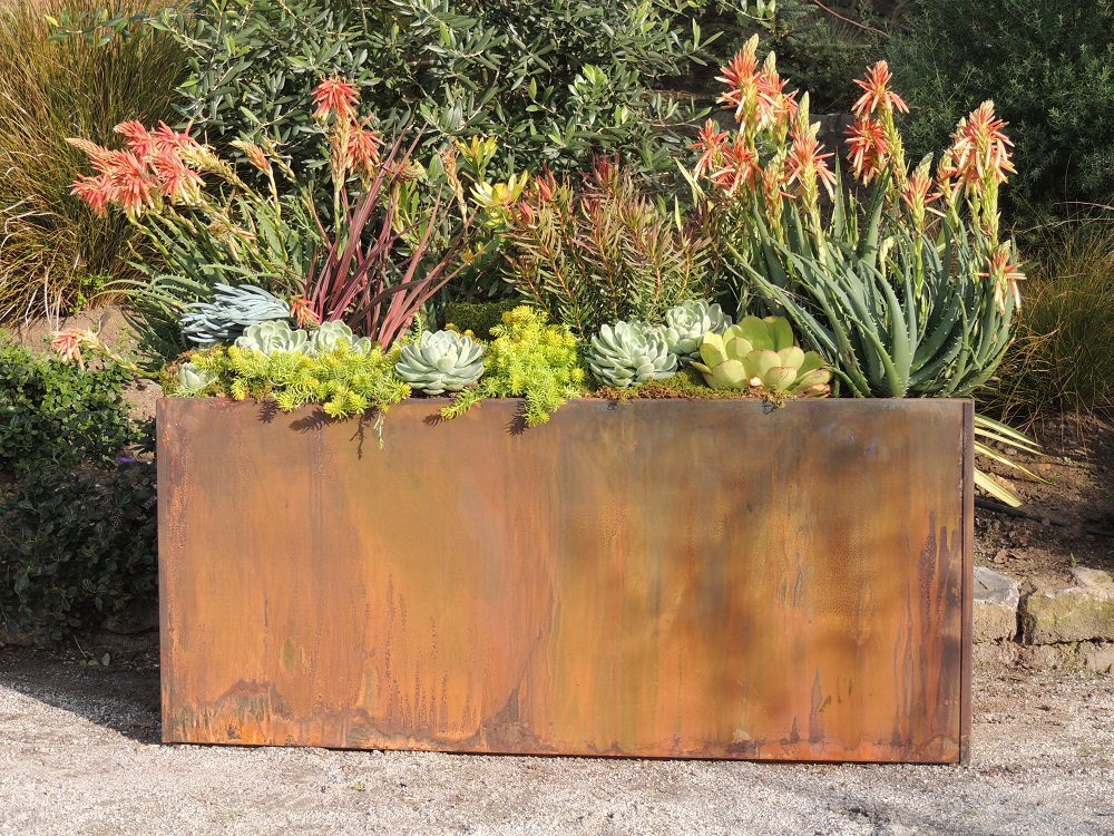 Nice Planter Corten Steel Trough Planter , 20'' x 46'' x 20'' by Nice Planter