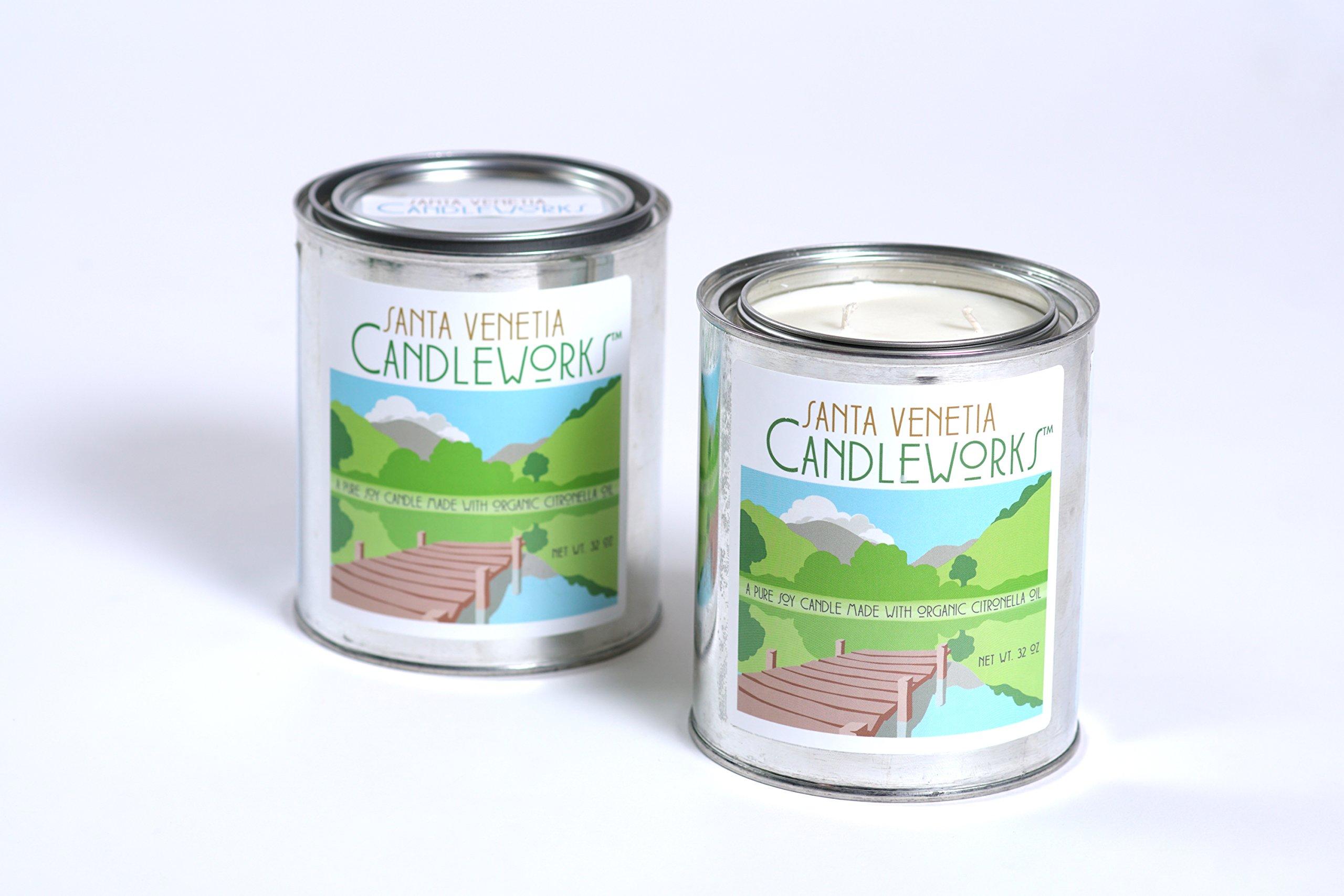 Santa Venetia Candleworks Organic Citronella Patio Candle - 32 oz