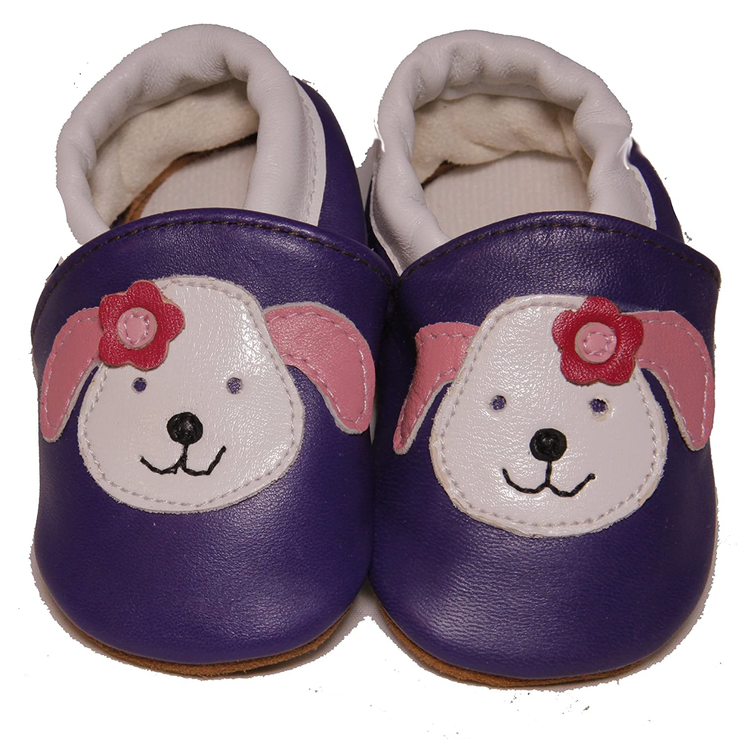 CONDA Baby Handmade Animated Baby Moccasins Leather Soft Sole Slip on Baby Shoes for Girls 100/%