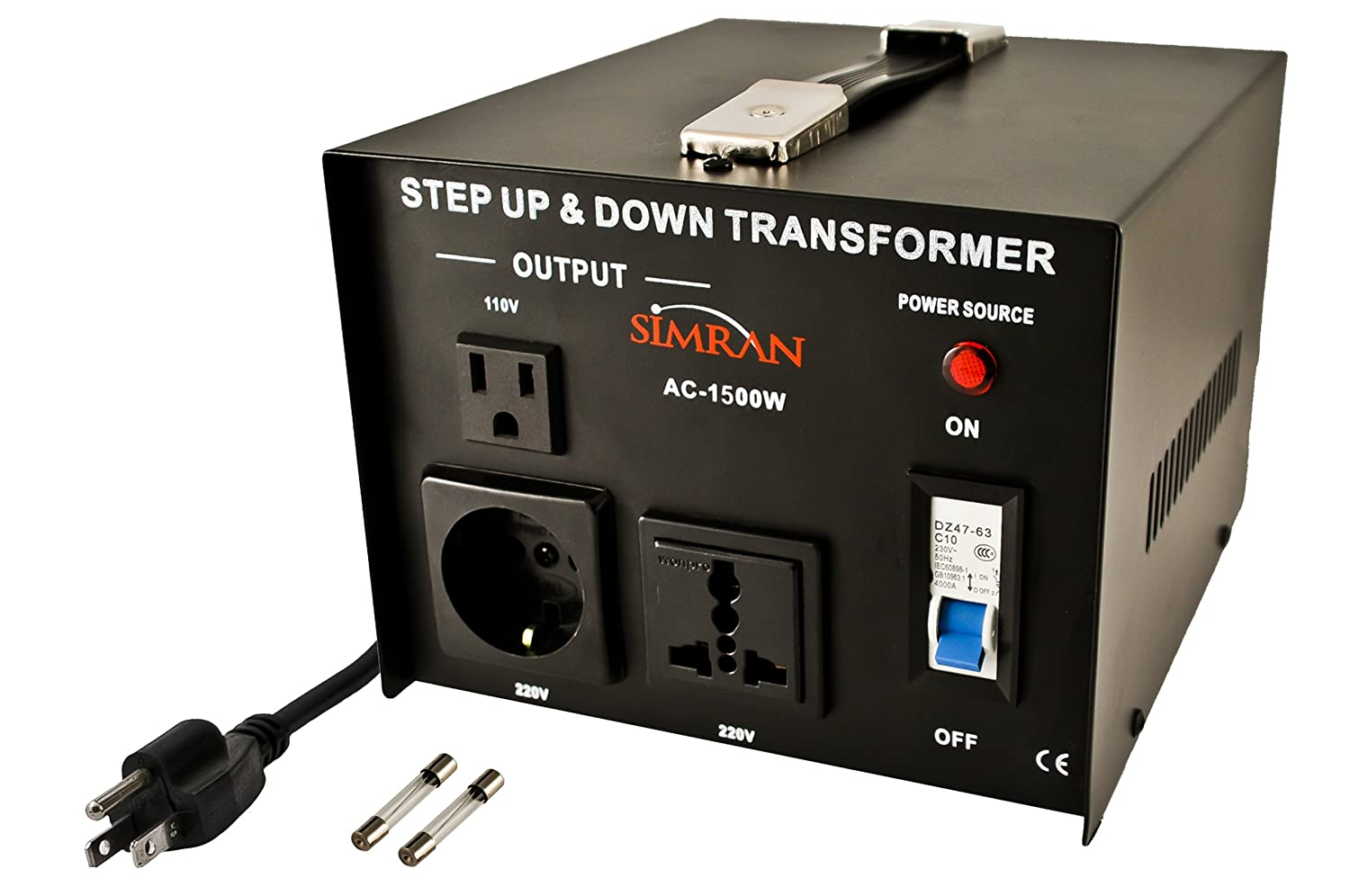 Simran Ac 5000 Step Up Down Voltage Converter Transformer 110v 220v House Wiring On Big Steps In Building Change Our To 12 Volt Dc Watts