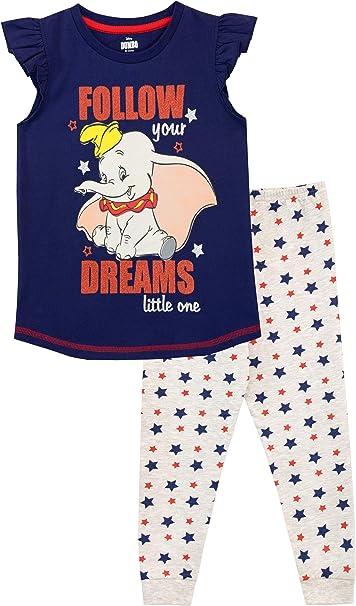 4 Years Disney Dumbo Pyjamas Childrens Kids Toddler Girls PJs Age 12 Months