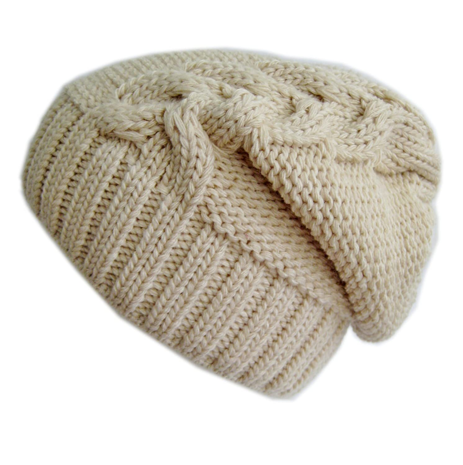 Frost Hats Winter Slouchy Hat Cable Knit Beanie M-2013-23A BEIGE at Amazon  Women s Clothing store  Skull Caps 9d17f78fdb2