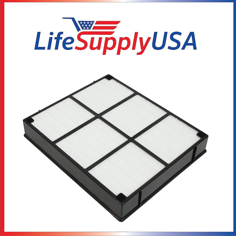 LifeSupplyUSA Replacement HEPA Filter to fit Hamilton Beach 04912 TrueAir Air Purifier Models 04160, 04161, 04150