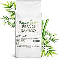 SaporePuro Fibra de Bambu en Polvo - 800 GR - harina Baja en carbohidratos