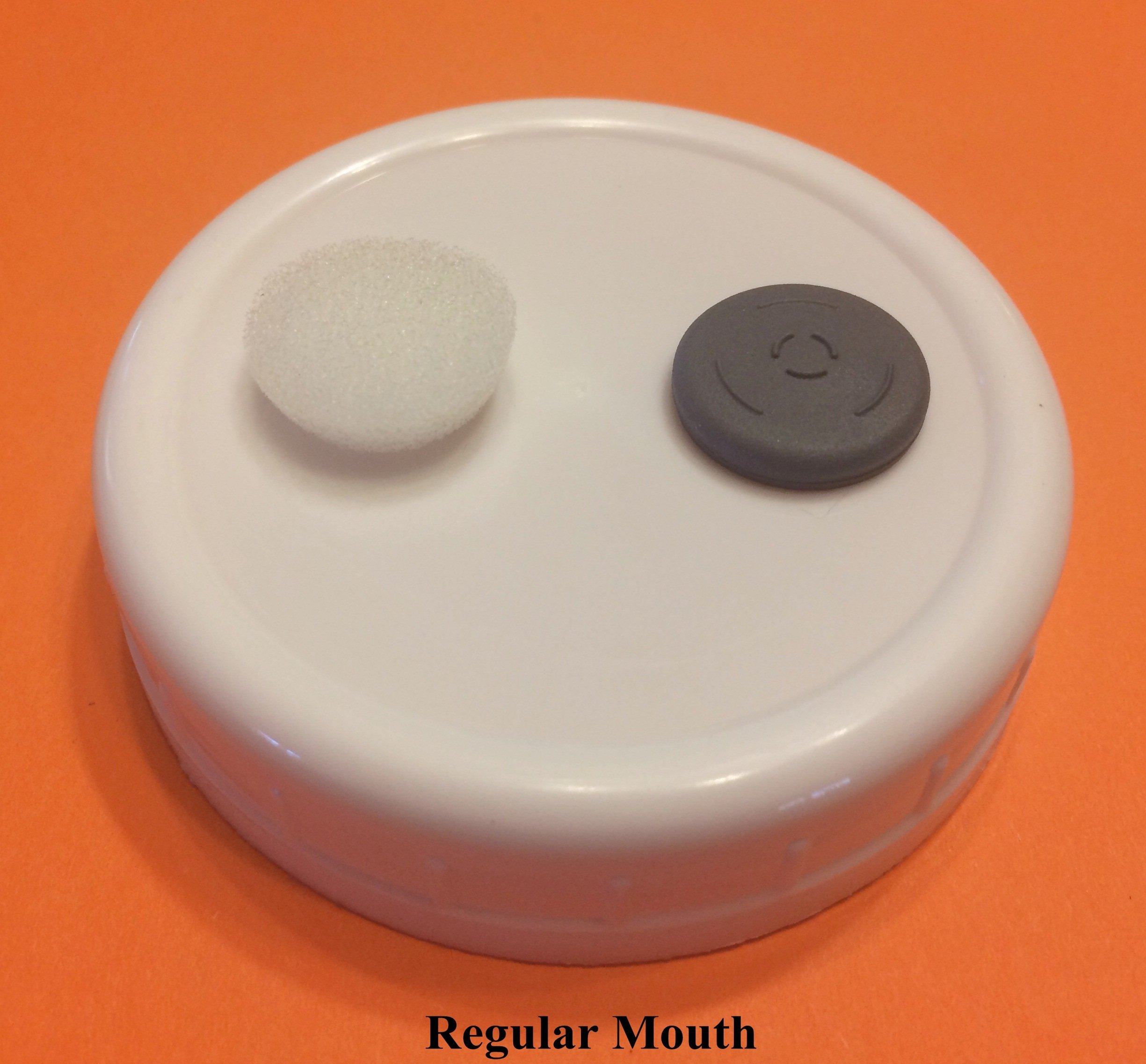 6 Grain Spawn Master Jar Lids Autoclavable Regular Mouth for Mushroom Cultivation Silicone Gasket & 12 Extra Filter Plugs
