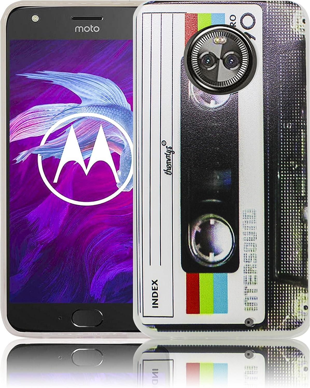 thematys® Compatible para Motorola Moto X4 Cassette Casete Funda Protectora de Silicona Funda Protectora Suave Funda Protectora contra el Parachoques Funda: Amazon.es: Electrónica
