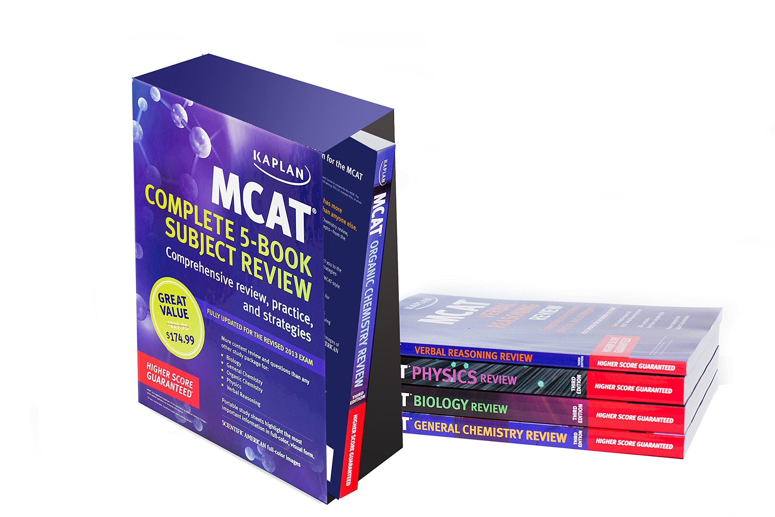 Kaplan MCAT Review Complete 5-Book Subject Review: Kaplan