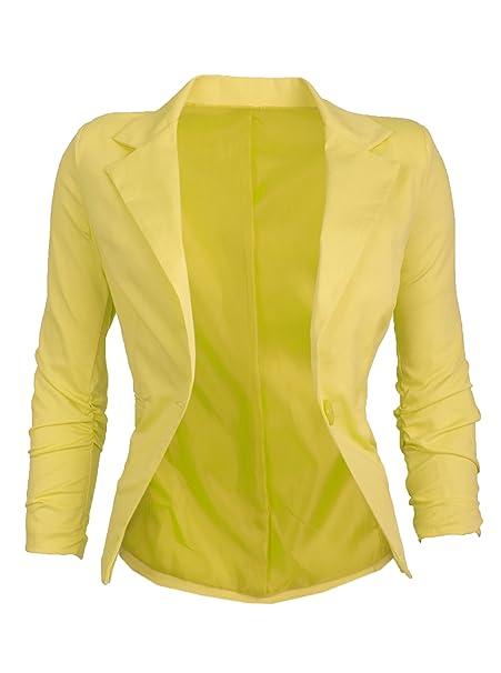 GIOVANI & RICCHI - Chaqueta de Traje - para Mujer Amarillo ...