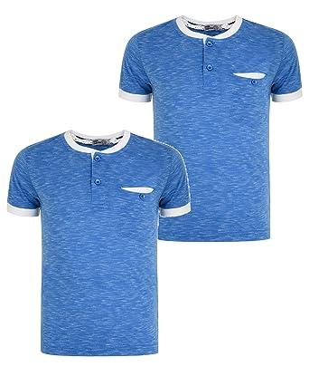 0eeea4ec5 LotMart Boys Henley Shirt White Colour Combi Placket Top Kids Pocket T-Shirt  Pack of 2: Amazon.co.uk: Clothing