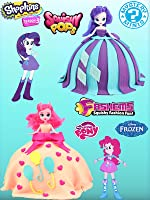 My Little Pony Equestria Girls Play Doh Surprise Pinkie Pie and Rarity Dress toy review