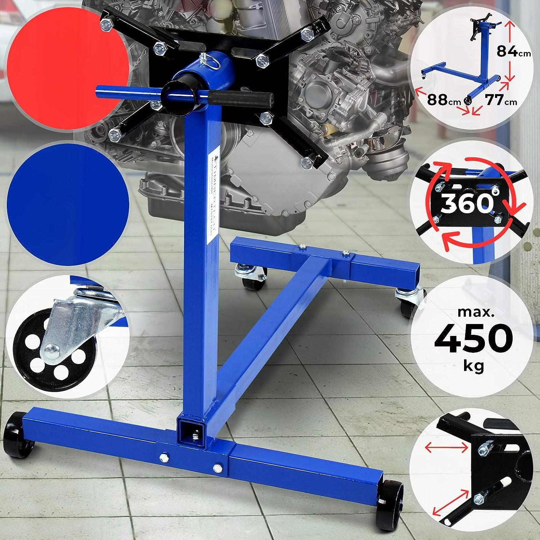 Timbertech Motorständer Bis 450 Kg Robuste Bauweise 360 Drehbare Aufnahmeplatte Aus Metall Motorheber Motorhalter Getriebehalter Auto