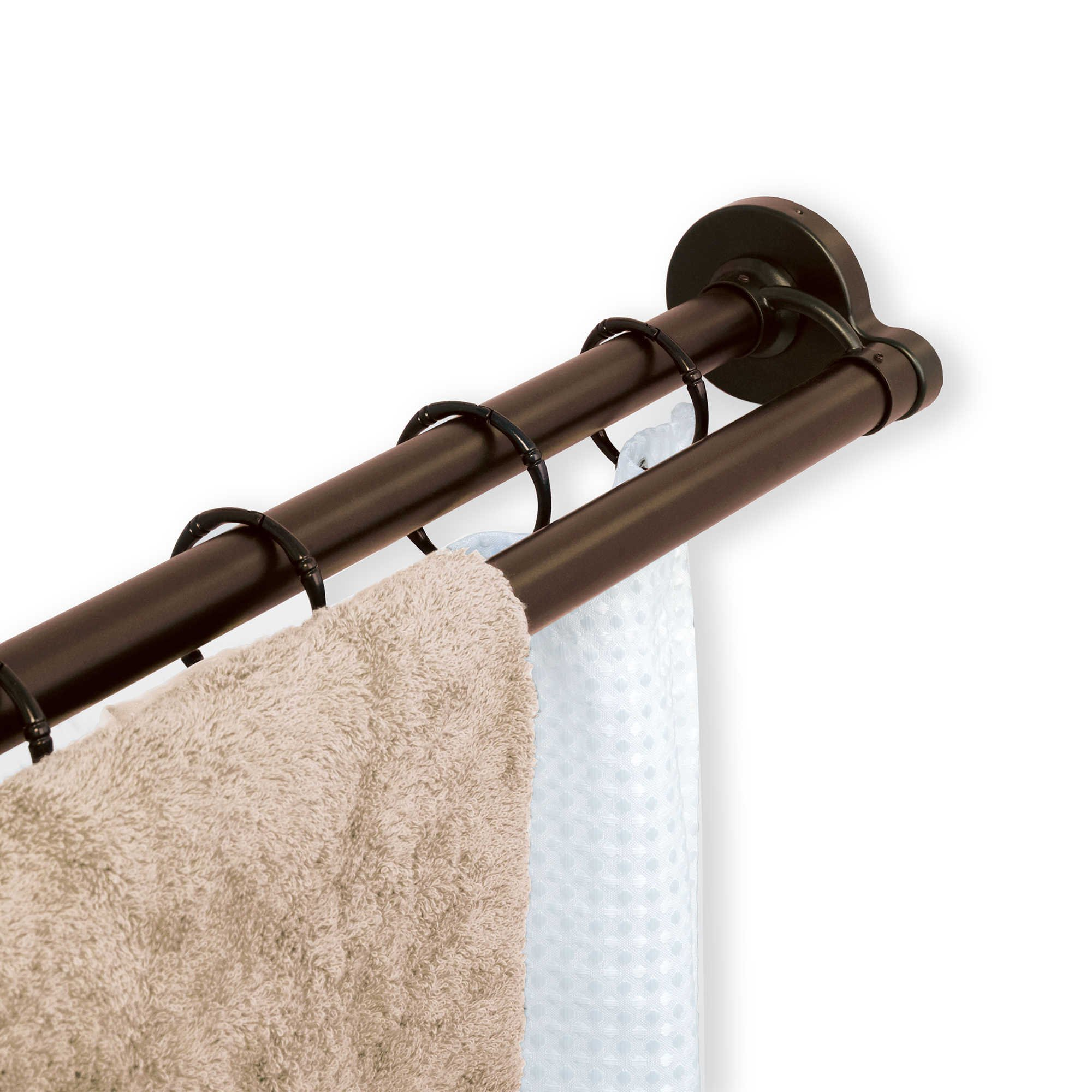 TITAN NeverRust Aluminum Double Straight Shower Rod in Bronze