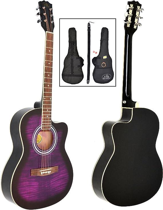 ts-ideen - Guitarra acústica western (4/4, incluye funda acolchada ...