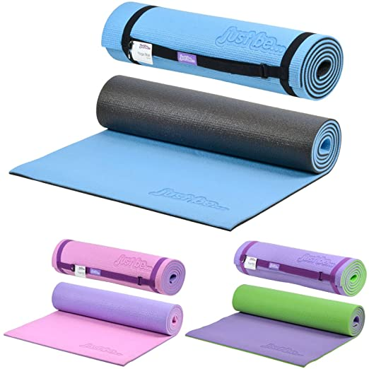 11 opinioni per Just be...® Tappetino Yoga- 180 cm, rivestimento 10mm- Blu/Nero