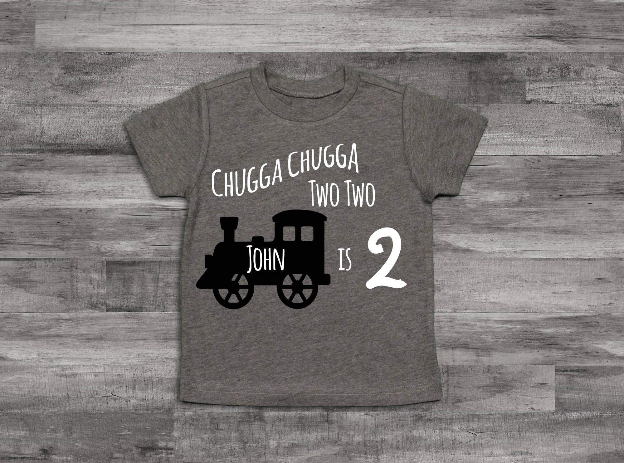 2nd Birthday Shirt, Boy Choo Choo I'm Two Shirt, Birthday Shirt, 2nd Birthday Shirt, 2nd Birthday Boy Shirt, Birthday train shirt