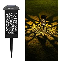 OxyLED Solar Path Lights Outdoor, 8 Pack LED Garden Pathway Lights Solar Powered, Decorative Landscape Lighting Security…
