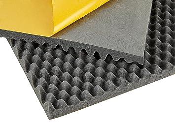 kummert Business dämmsc haumm Matte, espuma acústica, espuma corrugada, estructura de onda, autoadhesiva (500 x 500 x 10 mm/40 mm): Amazon.es: Coche y moto