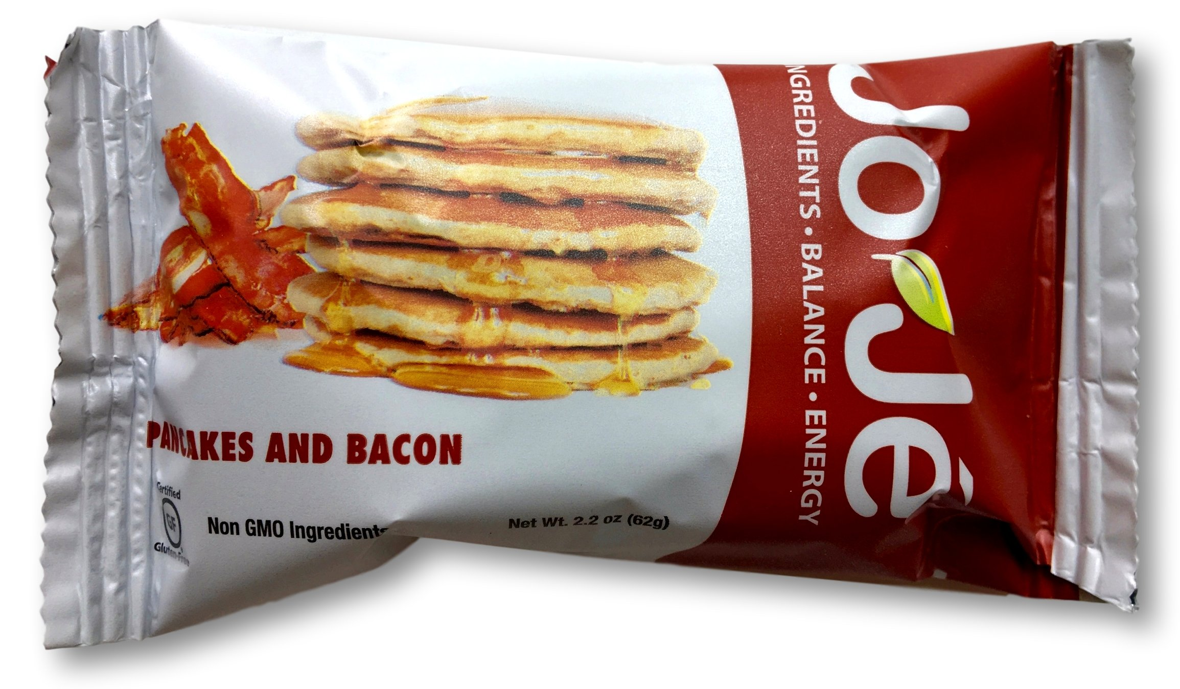 JoJe´ Bars - 12 Bars, 1 Case - Pancakes and Bacon - Gluten Free, GMO Free Energy Bar - All Natural, Organic Ingredients by JOJE'