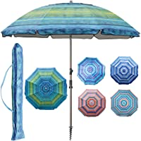 Deals on Blissun 7.2-ft Portable Beach Umbrella with Sand Anchor