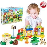 Gamzoo Big Train Building Block Toy Playset